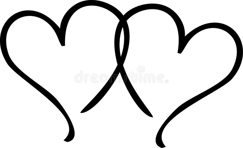 Download Two Hearts stock illustration. Image of abstract, wedding - 9123404