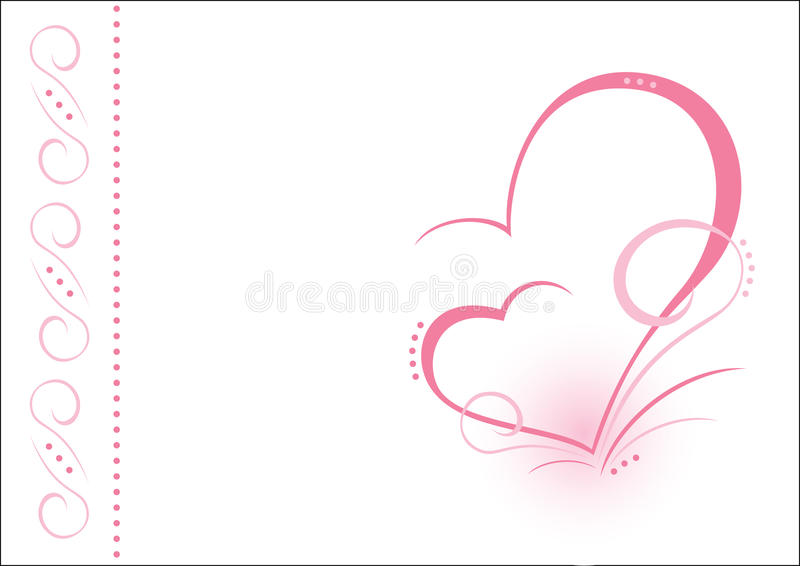 Two hearts. AI. When two hearts fight together. Postcard or background stock illustration