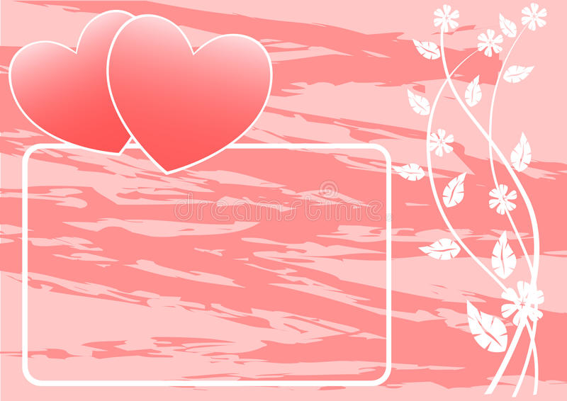 Download Two hearts on banner stock vector. Image of ornate, stars - 12428597