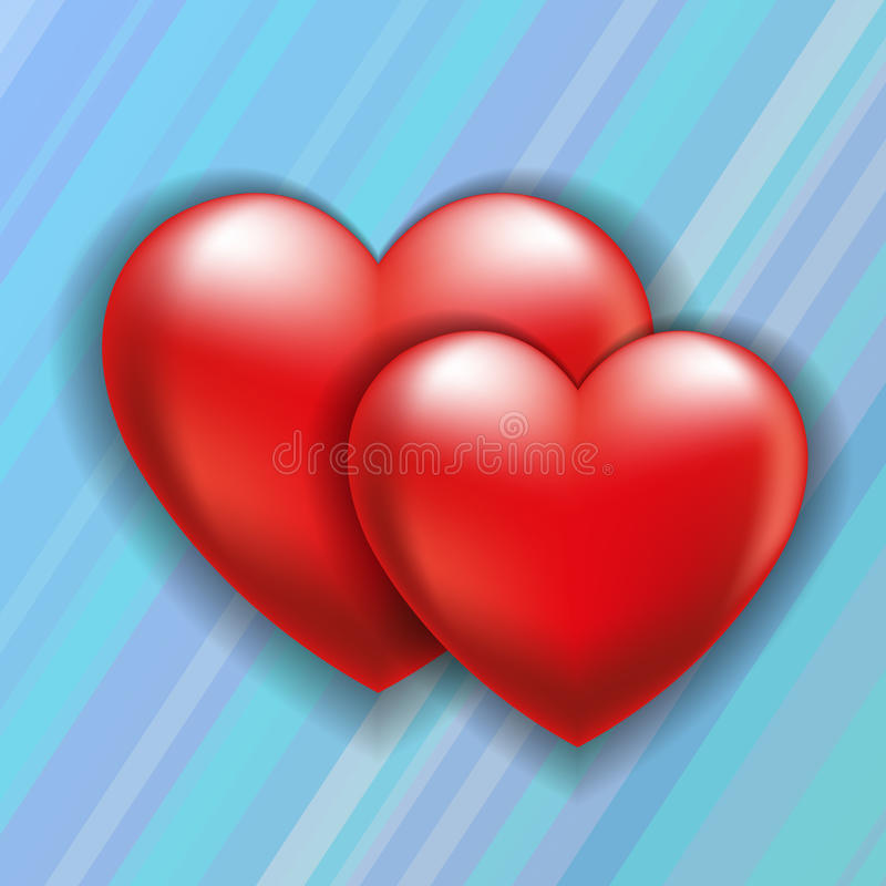Two Hearts Stock Vector