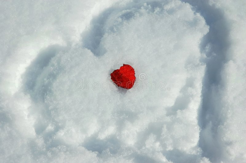 Download Two hearts and snow stock photo. Image of still, objects - 2085790