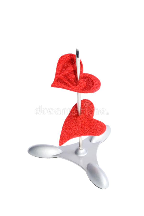 Download Two hearts on a spike stock image. Image of message, object - 13974557