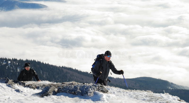 Download Two hikers stock image. Image of europe, extreme, cold - 3934113