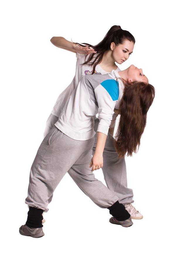 The two hip-hop dancer stock photos