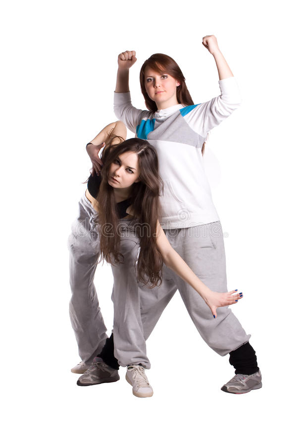 The two hip-hop dancer stock images