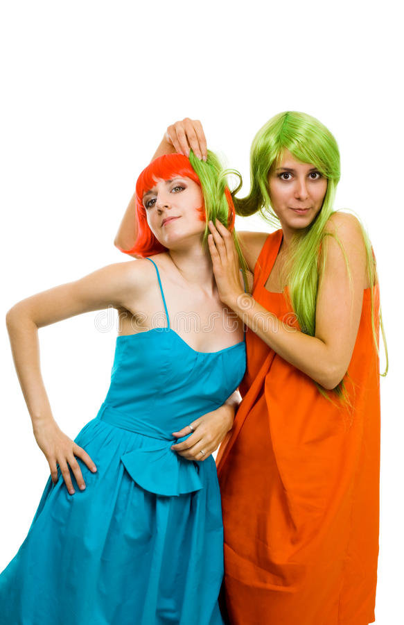 Download Two hirestyles stock photo. Image of hairdressing, hair - 11022196