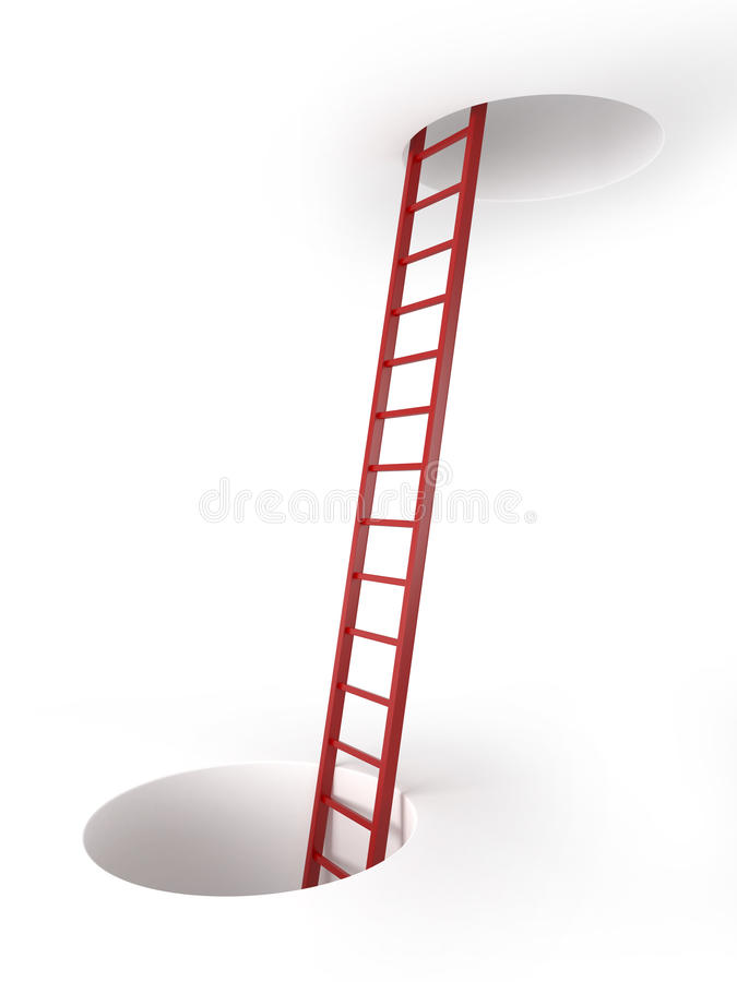 Download Two Holes And Ladder Royalty Free Stock Photo - Image: 33753605