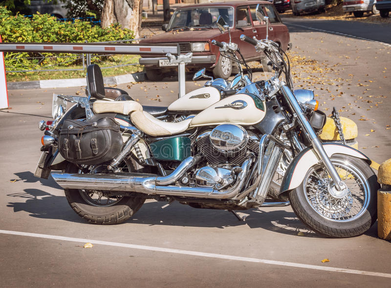Two Honda motobikes. royalty free stock photos