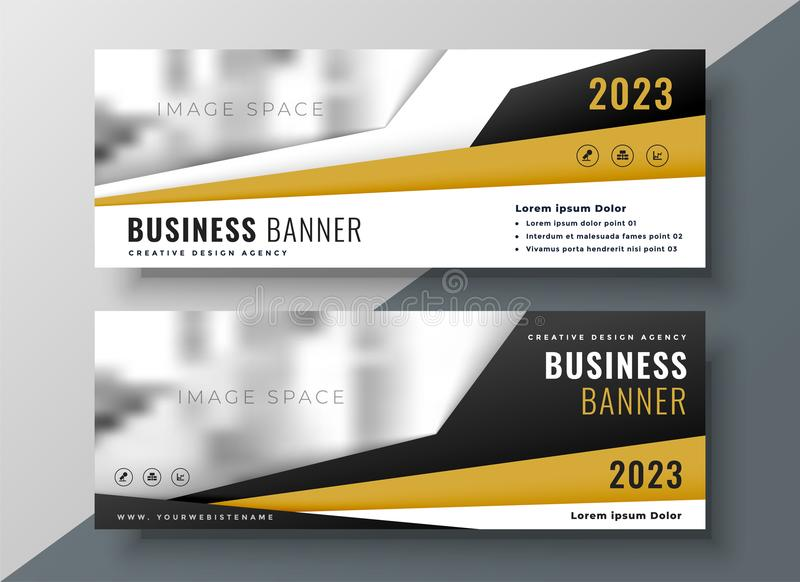 two horizontal business web banners with space for text and image royalty free illustration