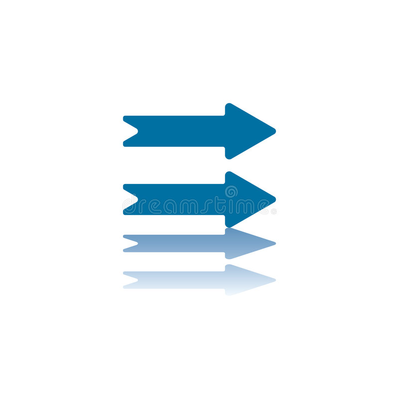 Two Horizontal Right Arrows Royalty Free Stock Image