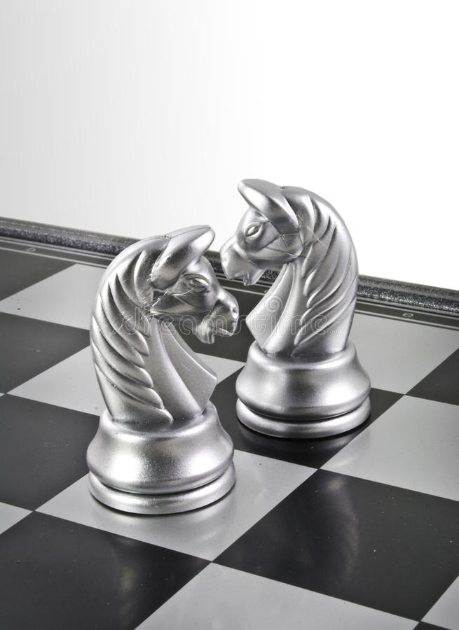 Two Horses Chess stock image