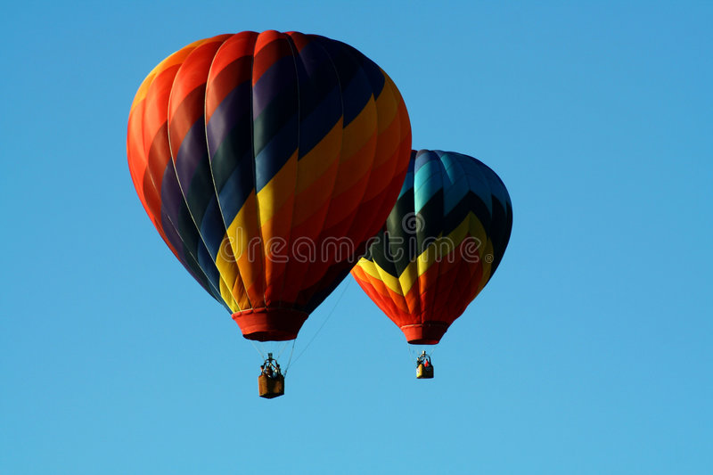 Two Hot Air Balloons royalty free stock photography