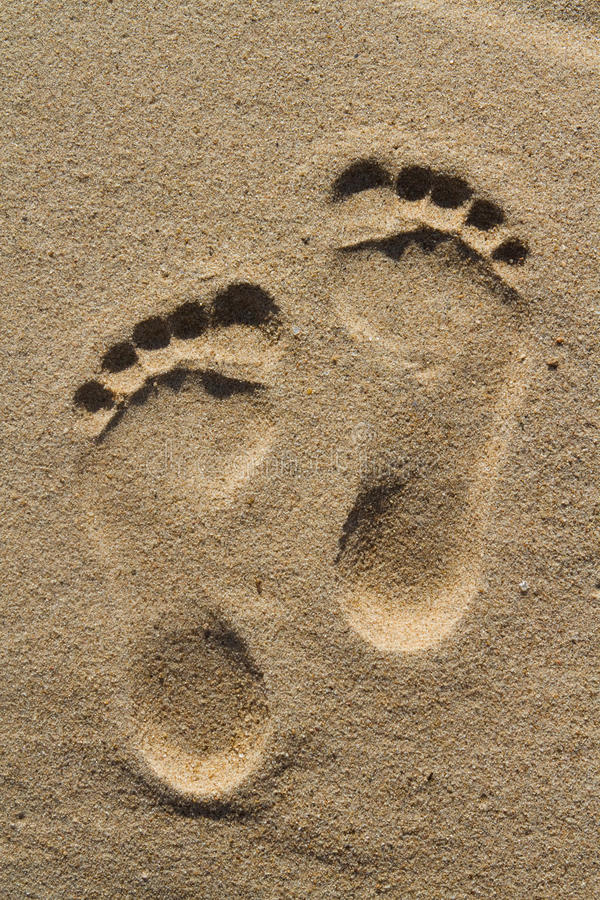 Download Two human footprints stock photo. Image of beach, barefoot - 20909130