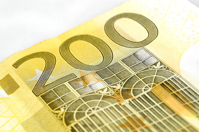 Download Two hundred euro stock image. Image of number, banknote - 3220529