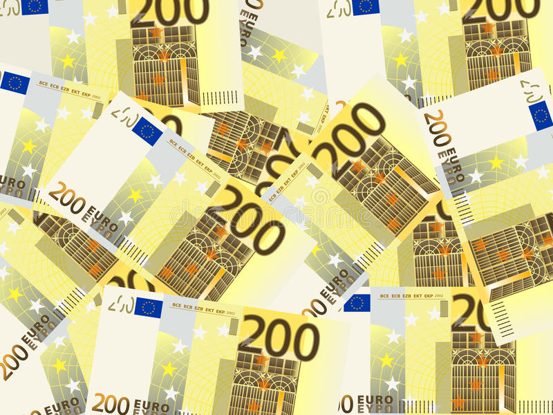 Two Hundred Euro Background Stock Image