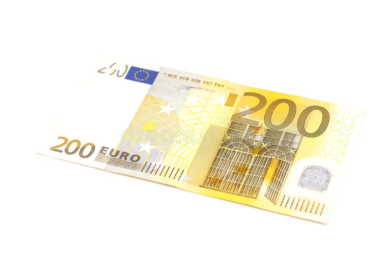 Two hundred euro banknote stock image