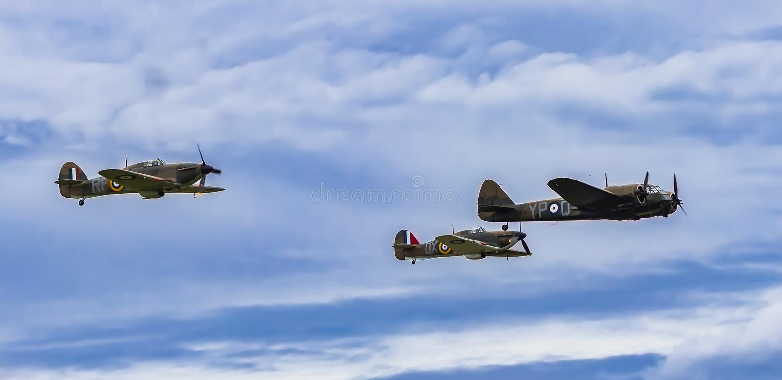 Hurricanes and Blenheim stock image