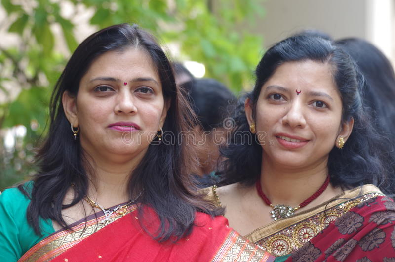 Two Indian women stock image