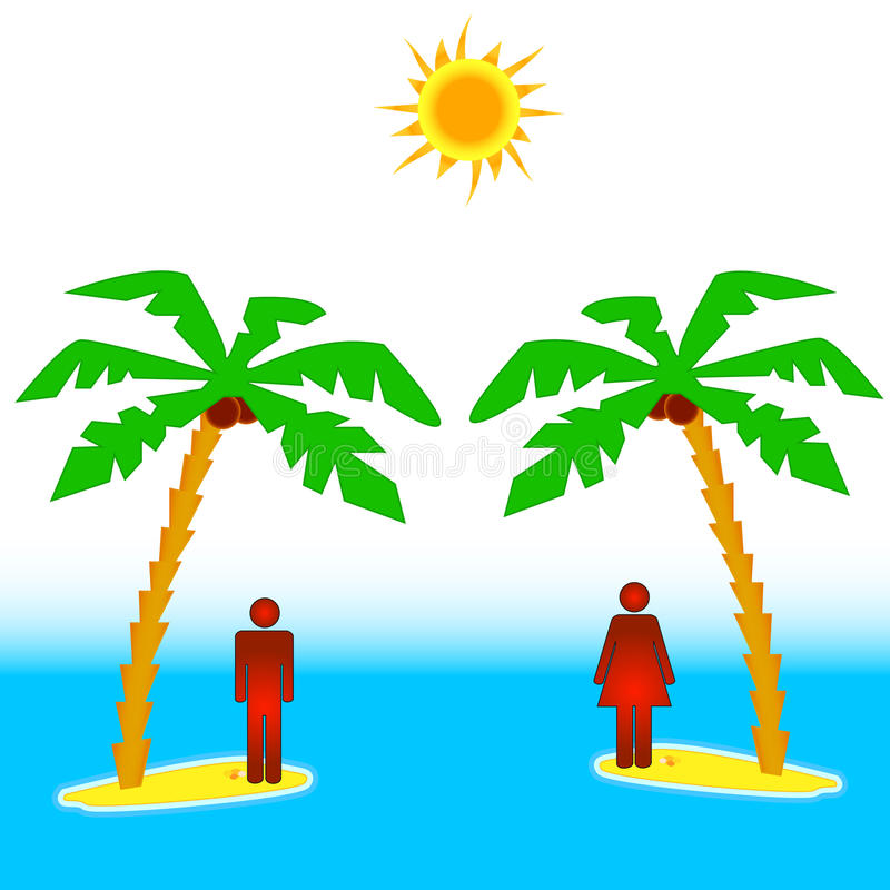 Download Two islands stock vector. Image of summer, resentment - 28106311