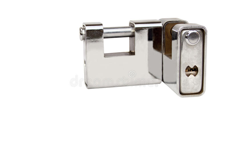 Two Isolated Solid Heavy Duty Safety Locks royalty free stock images