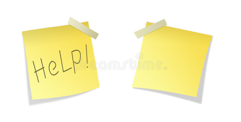 Download Two Isolated Yellows Sticky Paper Stock Image - Image: 10870627
