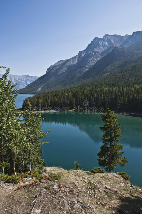 Download Two Jack Lake stock photo. Image of conifer, nature, global - 12694478