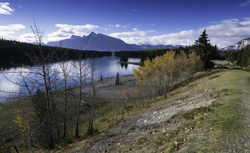 Two Jack Lake, Banff, Alberta, Canada royalty free stock images
