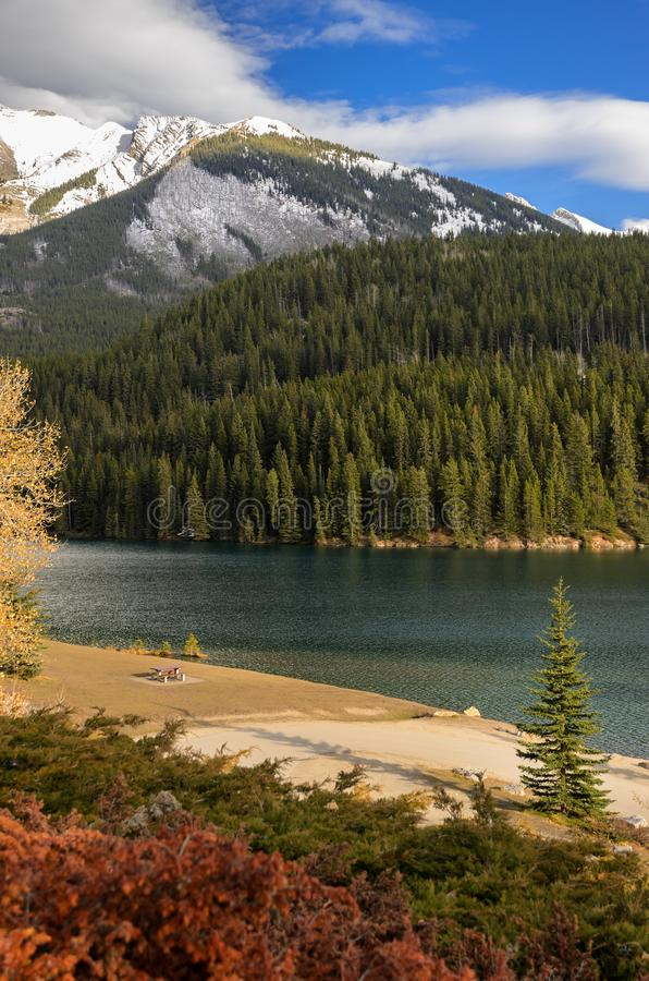 Two Jack Lake at Banff National Park in Alberta, Canada stock image