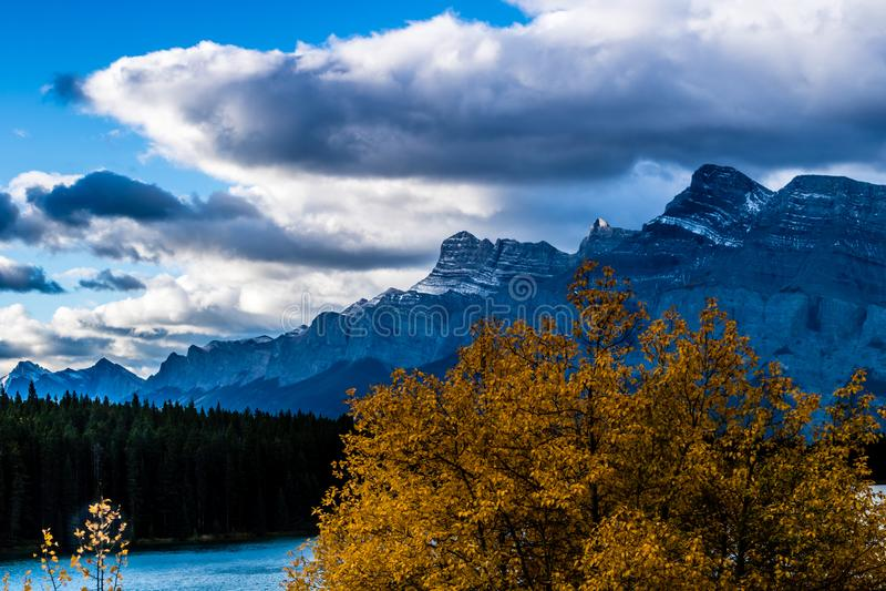 Two Jacks Lake, Banff National Park, Alberta, Canada stock image