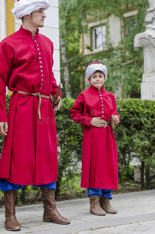 Two janissaries royalty free stock photos