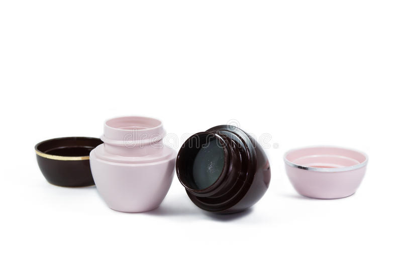 Two jars of ointment royalty free stock photo
