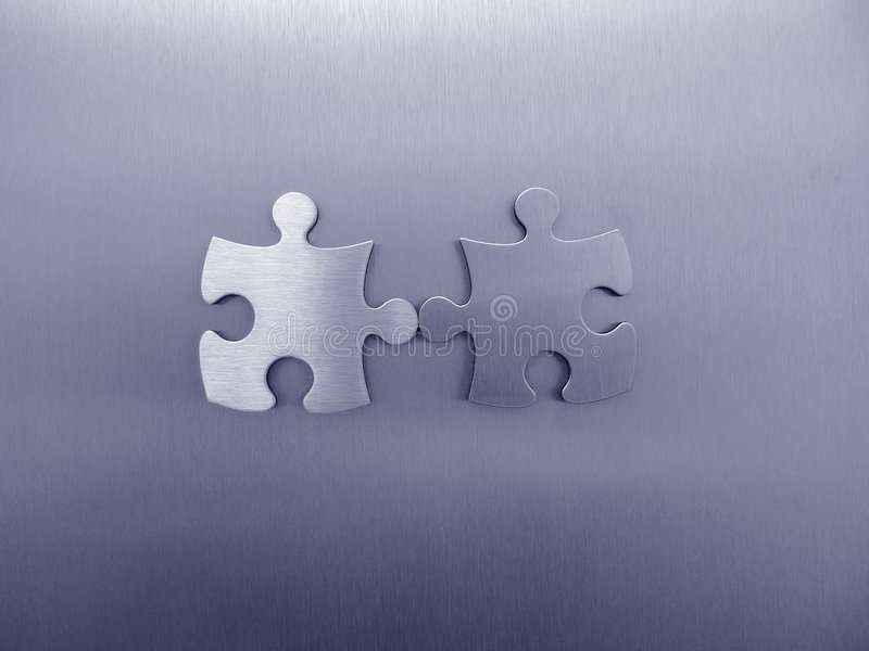 Download Two jigsaw pieces stock illustration. Illustration of concepts - 465244