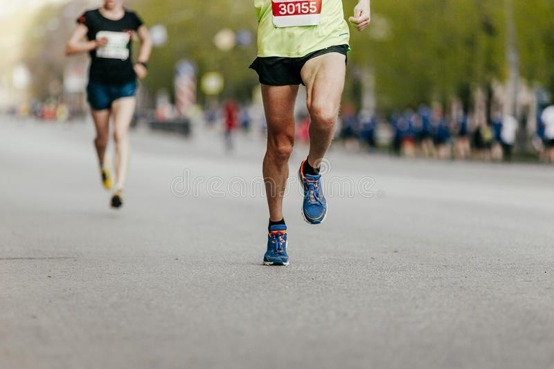 two joggers men run stock images