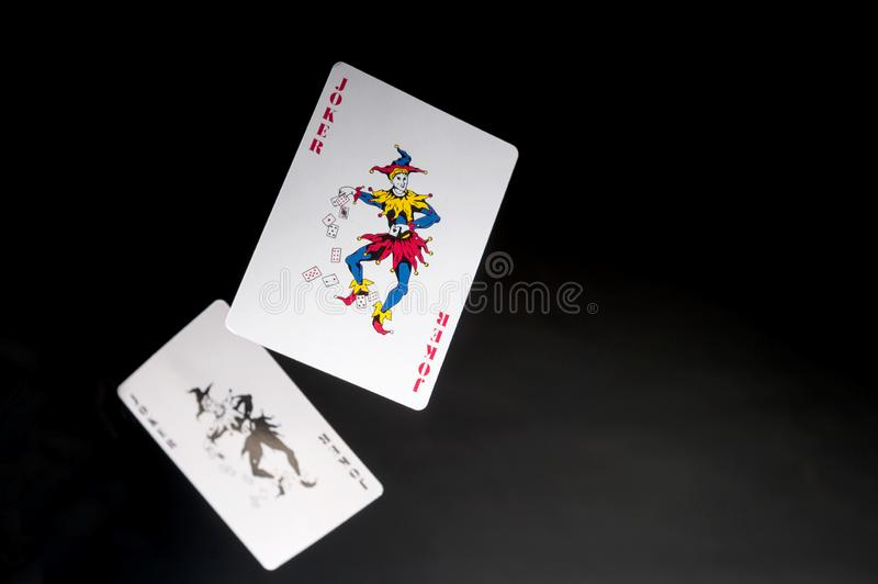 Two Jokers royalty free stock image