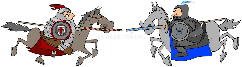 Download Two Jousting Knights On Horseback Stock Illustration - Image: 22708374