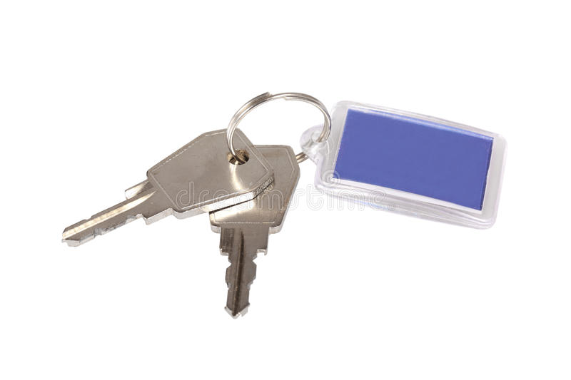 Two keys stock images