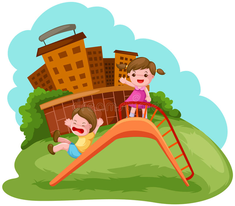 Playground Slide Drawing