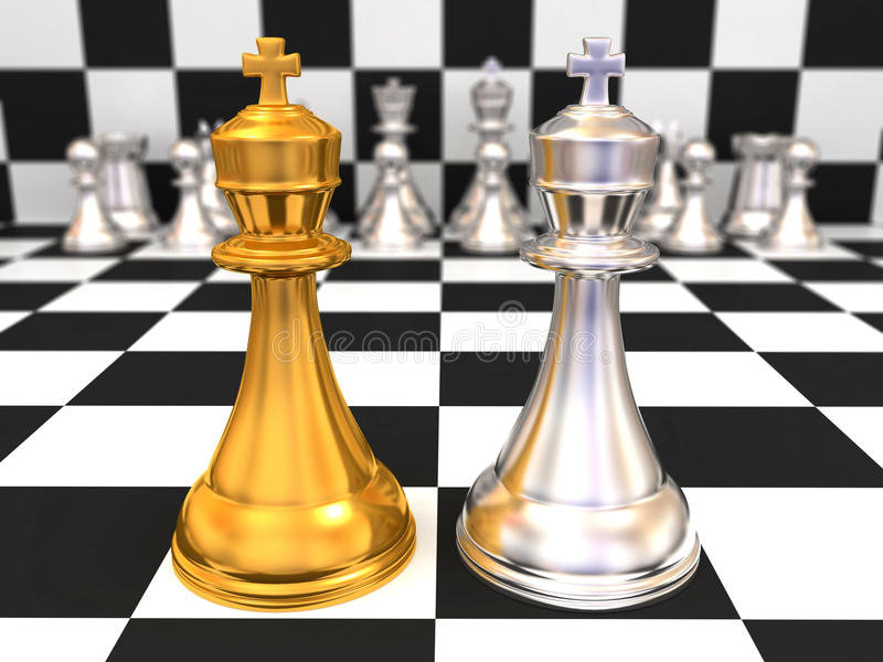 Download Two kings stock illustration. Image of motion, choice - 11198452