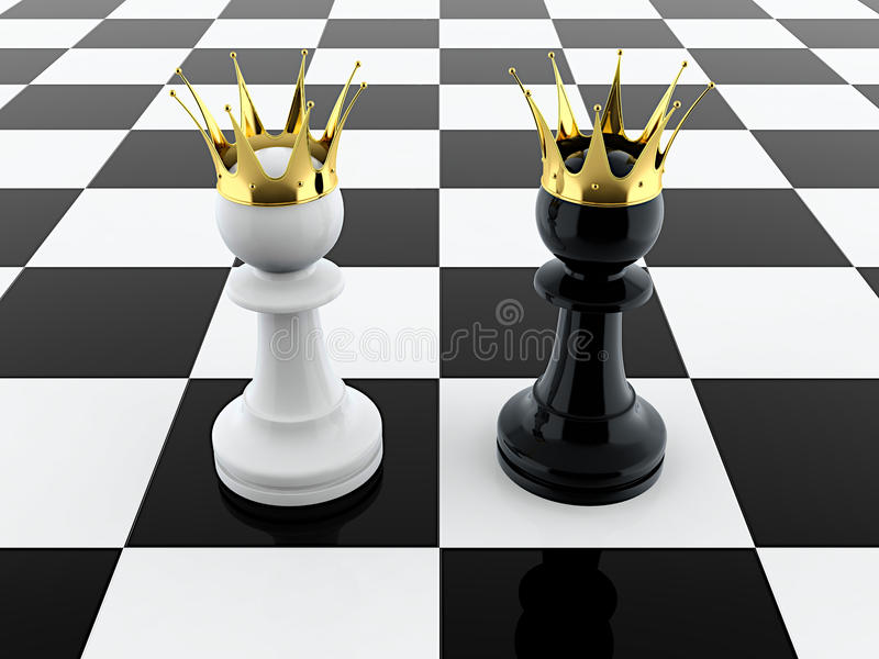 Two Kings Stock Image