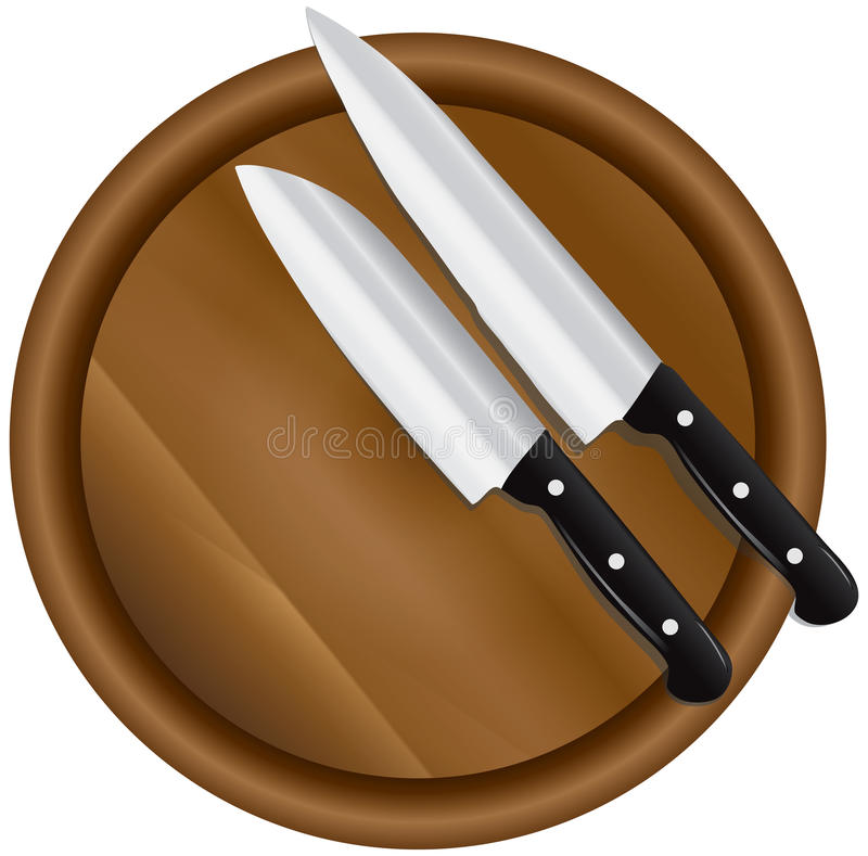 Two kitchen knives vector illustration