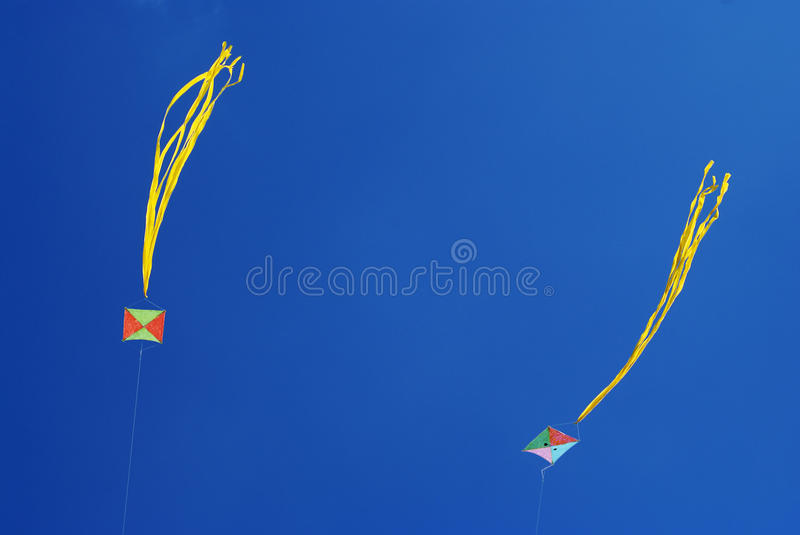 Download Two kites stock illustration. Image of high, outdoor - 14168263