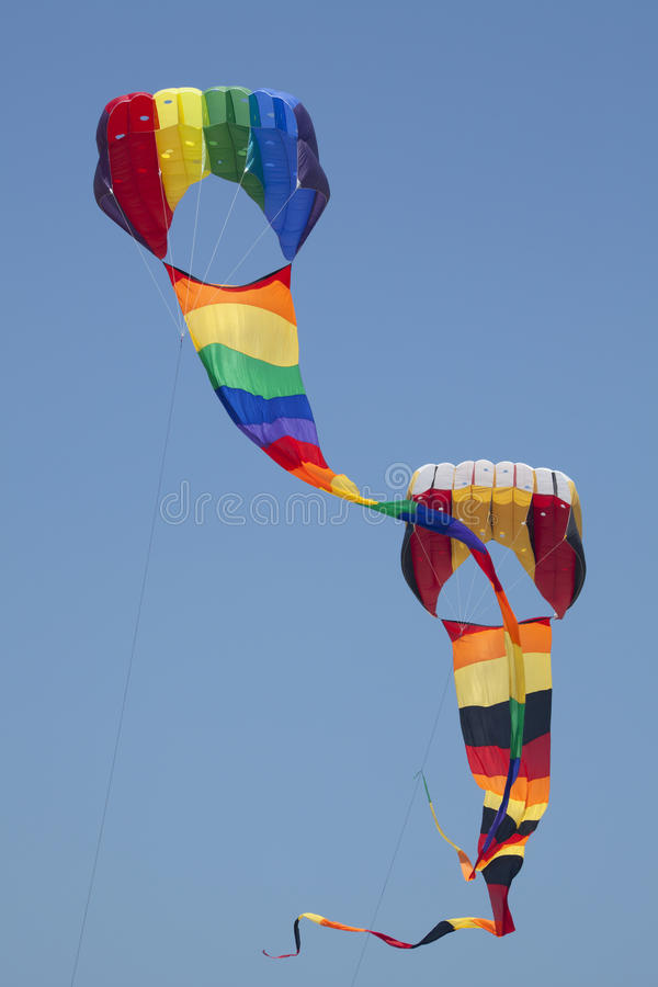 Download Two Kites stock image. Image of jersey, spring, north - 15068687