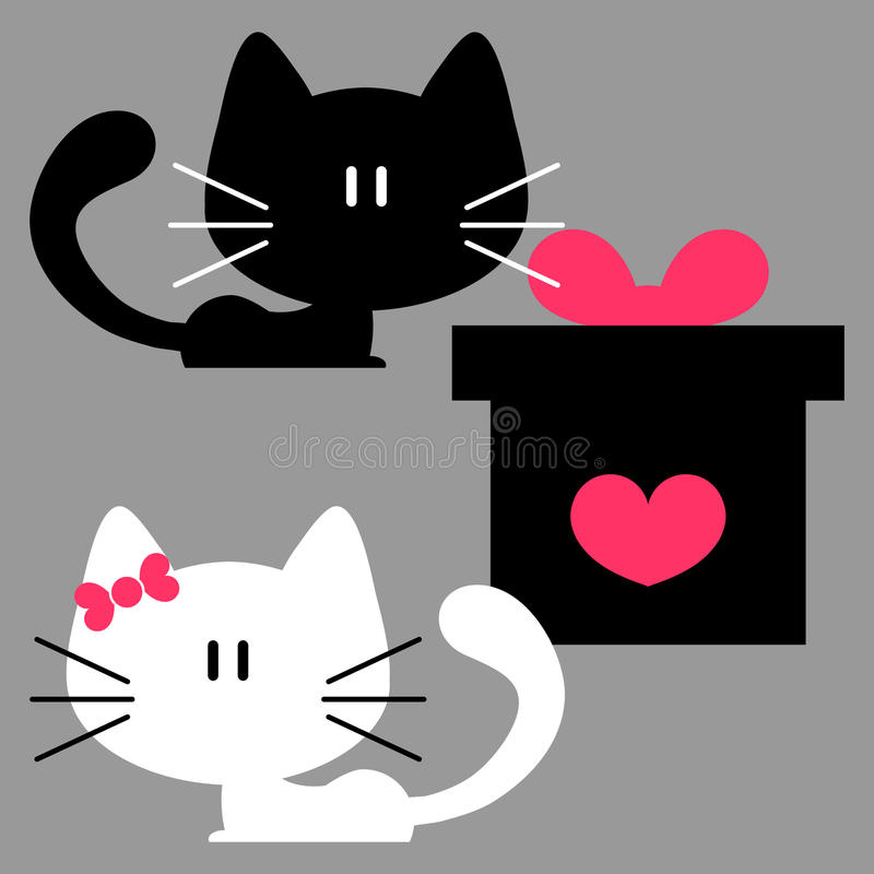 Free Two Kittens And A Gift Box Royalty Free Stock Images - 30381849