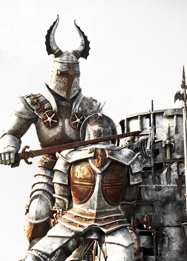 Two knights stock images