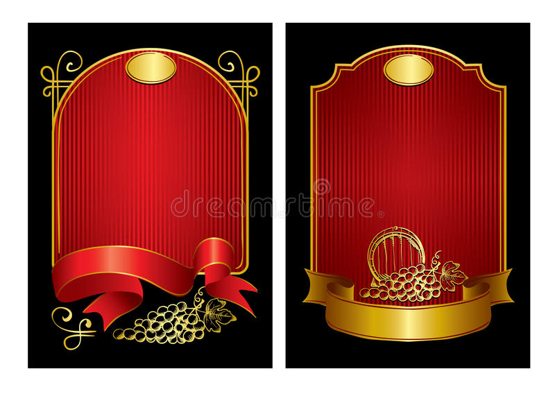 Two labels vector illustration