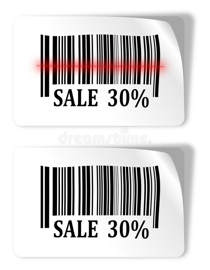 Download Two Labels With Bar Codes And Sale Sign Stock Illustration - Image: 36990419