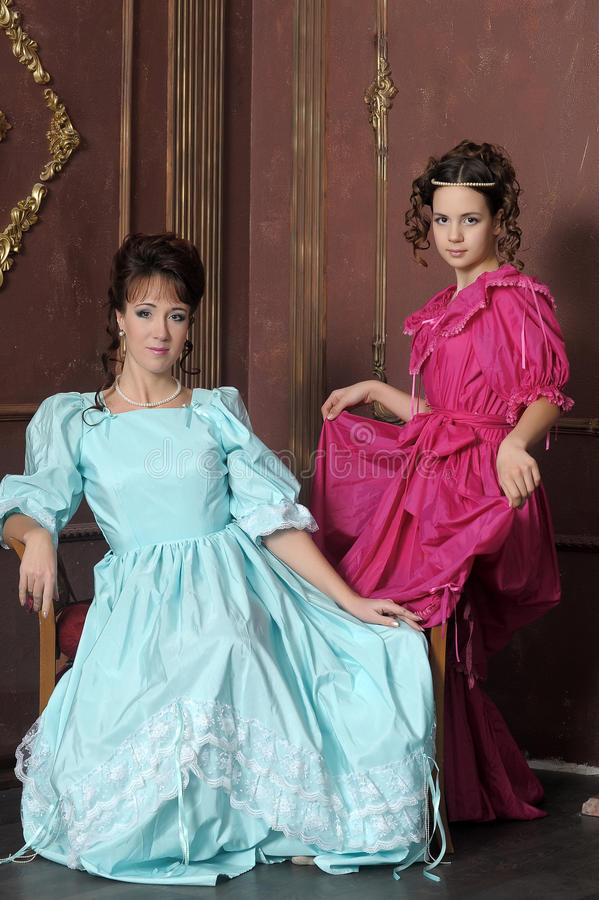 Download Two ladies stock photo. Image of family, costumes, friends - 23648228