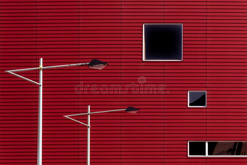 Two lamp posts in Rotterdam royalty free stock images