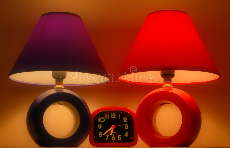 Two lamps stock image