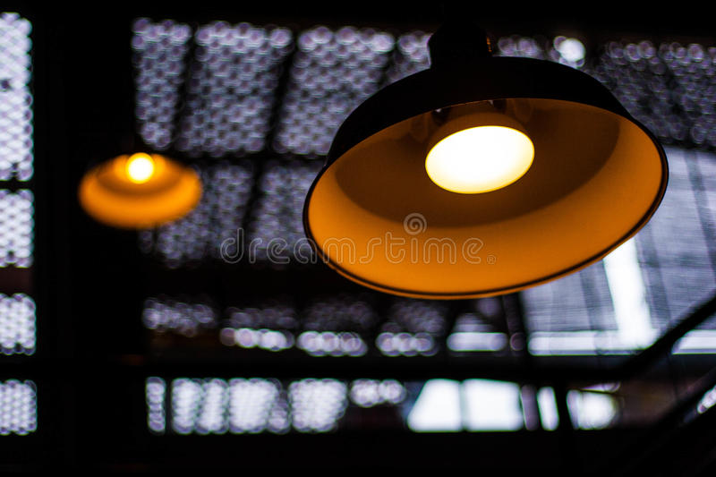 Two Lamps stock photography